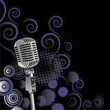 сбор винограда микрофона предпосылки Стоковое Изображение