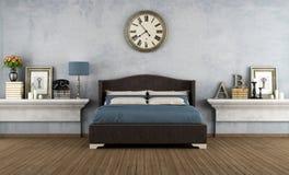 сбор винограда ночи одного светильника спальни кровати одиночный Стоковая Фотография RF