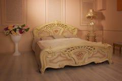 сбор винограда ночи одного светильника спальни кровати одиночный Стоковые Изображения RF