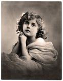 сбор винограда портрета Стоковые Изображения