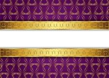 сбор винограда предпосылки золотистый пробел для сообщения или текста сертификат Стоковое Изображение