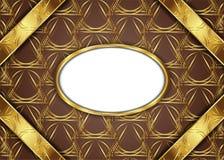 сбор винограда предпосылки золотистый сертификат Стоковое Фото