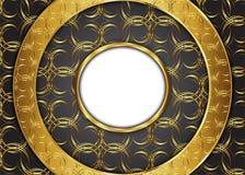 сбор винограда предпосылки золотистый сертификат Стоковое фото RF