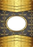 сбор винограда предпосылки золотистый сертификат Стоковое Изображение RF