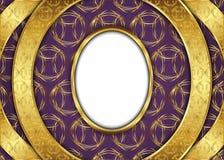 сбор винограда предпосылки золотистый сертификат Стоковые Изображения