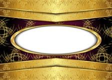 сбор винограда предпосылки золотистый сертификат Стоковые Изображения RF