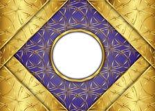 сбор винограда предпосылки золотистый сертификат Стоковая Фотография