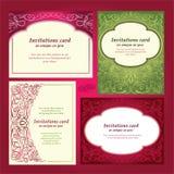 сбор винограда приглашения приветствию карточки Стоковая Фотография RF
