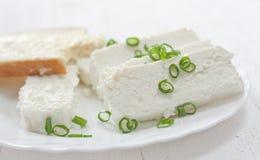 сбор винограда плиты коттеджа cheesecloth сыра свежий handmade вися органический Стоковое Изображение RF