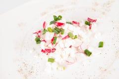 сбор винограда плиты коттеджа cheesecloth сыра свежий handmade вися органический Стоковые Изображения