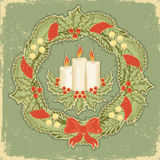 сбор винограда рождества карточки Стоковая Фотография RF