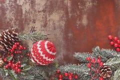 сбор винограда рождества предпосылки старый бумажный sacking Стоковая Фотография RF