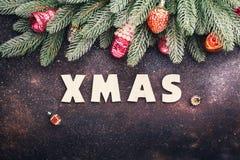 сбор винограда рождества предпосылки старый бумажный sacking Стоковые Фото