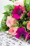 сбор винограда типа картины цветков конструкции предпосылки флористический безшовный Стоковые Изображения RF