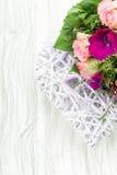сбор винограда типа картины цветков конструкции предпосылки флористический безшовный Стоковая Фотография RF