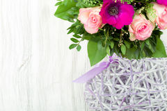 сбор винограда типа картины цветков конструкции предпосылки флористический безшовный Стоковые Фотографии RF