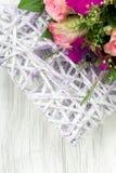 сбор винограда типа картины цветков конструкции предпосылки флористический безшовный Стоковое фото RF