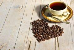сбор винограда типа кофейной чашки фасолей черный Стоковые Изображения