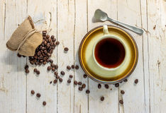 сбор винограда типа кофейной чашки фасолей черный Стоковые Фото