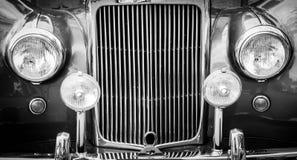 сбор винограда фар решетки автомобиля Стоковое Изображение RF