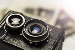 сбор винограда фото камеры старый Стоковые Изображения RF