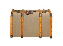 сбор винограда чемодана путя клиппирования изолированный изображением Стоковое Фото