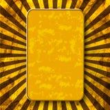 сбор винограда шаблона предпосылки изолированный золотом lable лучи Абстрактная предпосылка с a иллюстрация штока