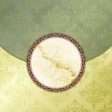 сбор винограда эмблемы зеленый grungy викторианский Стоковое фото RF