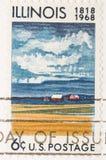 сбор винограда 1968 штемпеля illinois годовщины Стоковое фото RF