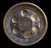 сбор винограда seder плиты еврейской пасхи Стоковые Фото
