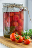 Сбор овощей в зиме консервация Стоковое фото RF