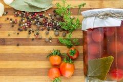 Сбор овощей в зиме консервация Стоковые Изображения RF