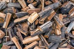 Сбор древесины на сезон топления в зиме, твердое топливо Стоковые Фото