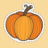 Сбор тыквы осени, стикер благодарения и хеллоуина бесплатная иллюстрация