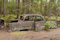 Сброс автомобиля в Kirkoe Mosse Стоковое фото RF