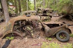 Сброс автомобиля в Kirkoe Mosse Стоковое Изображение RF