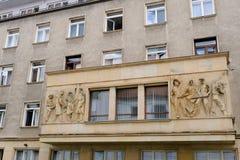 Сброс Братиславы коммунистический скульптурный стоковое изображение