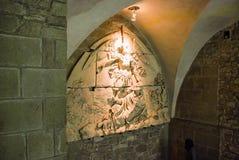 Сброс стены в аббатстве ` s St Michael Стоковые Изображения RF
