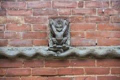Сброс Garuda и Naga, Hanuman Dhoka, королевского дворца, квадрата Durbar, Катманду, Непала стоковое изображение rf