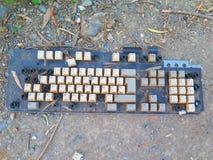 Сброшенная клавиатура компьютера Стоковое Изображение