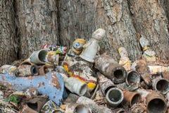 Сброшенные статуи рода глины Стоковые Изображения