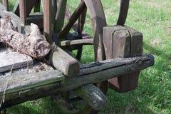 Сброшенные тележки лошади или вола Стоковое фото RF