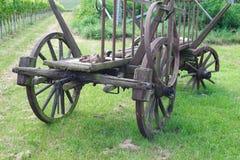 Сброшенные тележки лошади или вола Стоковые Фото