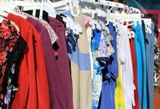 Сбывание улицы одежд Стоковое Изображение