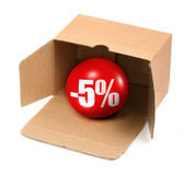 сбывание 5 процентов принципиальной схемы Стоковая Фотография RF