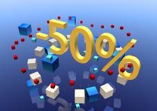 сбывание 50 иллюстрация вектора