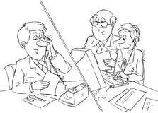 сбывания менеджеров Бесплатная Иллюстрация
