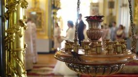Свадебная церемония в церков видеоматериал