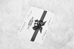 Свадьба, поздравительная открытка, приглашение, праздник, белый Стоковая Фотография RF