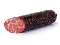 сваренная изолированная белизна курят сосиской, котор Стоковое Изображение